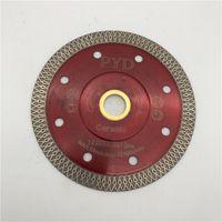 Turbo serra lâmina 4 5 polegadas 115 mm para porcelana cerâmica telha de corte de mármore cortador de disco cortador de disco diamante buraco interior 22 23 mm ou 5 811