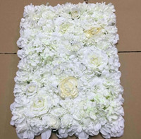 Creative wedding stage props Silk rose tracery wall encrypti...