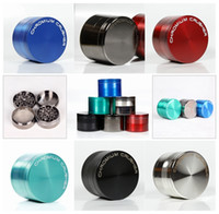 Free Shipping 4 Layers Grinders Colorful Herb Grinder Zinc A...