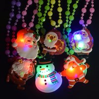 Kids Led Glow Necklace Toy Luminous Christmas Series Xmas Tr...