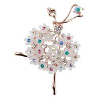Fabrika Doğrudan Satış Bale Dans Kız Shinning Kristal Cam çeşitli tasarımlar Kadın için Broşlar