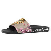 mens and womens pink bengal tiger slide sandals lovers unise...