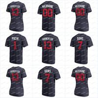 """1 마리의 """"PUCHI""""13 Acuna Jr. """"Sabanero Soy""""2018 플레이어 주말 티셔츠 7 Swanson """"Dans""""49 """"EL CABALLO DE OLAYA""""Jerseys"""