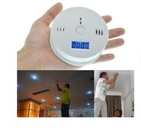 Système d'alarme de détecteur de monoxyde de carbone CO pour la sécurité à la maison empoisonnement capteur de gaz de fumée avertisseurs d'alarme Testeur LCD avec boîte de vente au détail LLFA