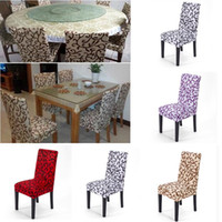 Vintage Printed Spandex Stretch Dining Chair Covers Restaura...