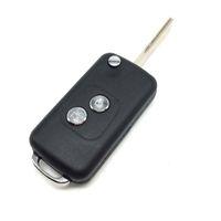 2 Кнопка пустой модифицированный filp складной дистанционный ключ shell для Peugeot 307 с ПАЗ лезвие замена ключа автомобиля shell для peugeot