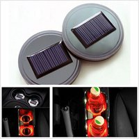 Universal Car Auto Anti-Slip Mat Impermeabile Solar LED Light Portalampada Mat Pad Bottiglia Bevande Sottobicchiere ZA5748