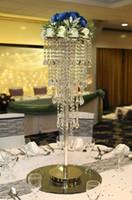 새로운 H80cm 높이 크리스탈 웨딩 센터 피스 테이블 샹들리에 플라워 스탠드 웨딩 소품