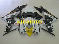 사출 금형 kawasaki 닌자 ZX10R 04 05 ZX 10R 2004 2005 ABS 쿨 화이트 블랙 페어링 세트 + 선물 KM13