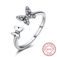 Butterfly Rings Women 925 Sterling Silver Open Ring Fashion ...