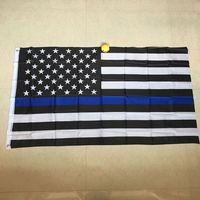 Бесплатная доставка американский флаг blueline полиции флаги 3 * 5 футов тонкий синий красная линия флаг с vrass люверсами США