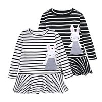 2018 New kids fashion dresses Baby girl INS lovely rabbit st...