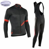 Tour de France NW Radtrikot Winter Thermo Fleece Bike Wear (Latz) Hosen Set Langarm Quick Dry Ropa Ciclismo Fahrrad Kleidung