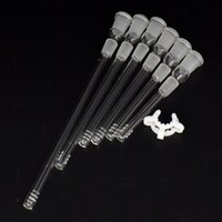 2pcs / lot Diffused Downstem 14mm à 14mm en verre Downstem verre Accessoires Bangs avec Plastic Keck clip