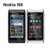 Orijinal Yenilenmiş Nokia N8 Kilitli Tek Çekirdekli 16GB 3.5 İnç 12.1MP 3G cep telefonu