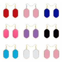 Fashion Smooth Surface Gold Dangle Earrings Brand Signature ...