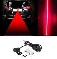 2018 automóvil automóvil vehículo LED láser antiniebla luz anti-colisión lámpara de advertencia de freno de freno DHL envío gratis