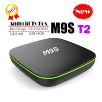 2018 Moins cher M9S T2 Android 7.1 Tv Box Quad Core 1 Go 8 Go H3 Chip Support Wifi 4 K 3D Lecteur multimédia Smart Tv Box Mieux