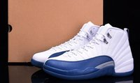 AAAAA Retros 12 French Blue Basketball Shoes, Real Carbon Fib...