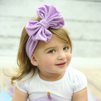 New Infant Bow Headbands Girl Cotton Headwear Kids Baby Phot...
