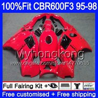 Injectie voor Honda CBR 600F3 CBR600RR CBR6F3 Glossy Rood 1995 1996 1997 1998 2My.60 CBR600 F3 FS CBR600FS CBR 600 F3 95 96 97 98 Kuip