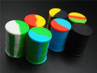 5 pçs / lote 11 ml barril de óleo forma sortida cor recipiente de silicone para Dabs Forma redonda Recipientes De Silicone cera Silicone Jars recipientes Dab