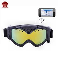 1080P HD gafas de sol de esquí-gafas de sol cámara WIFI colorido doble anti- niebla de esquí para el esquí con la aplicación gratuita de grabación de vídeo en vivo de la imagen de grabación