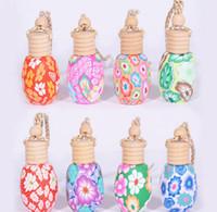Yüksek Kalite 500 adet / pıhtı ar asın dekorasyon Polimer Kil Uçucu yağ Parfüm şişesi Asılı halat boş şişe DHL Ücretsiz