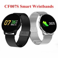 Waterproof CF007S Bluetooth Wristbands Color Round LCD Scree...
