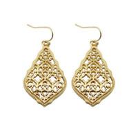 ZWPON Filigrana Pendientes de lágrima hueco de oro de Bohemia 2018 joyería Pendientes Declaración de Marruecos Boho moda de las mujeres