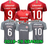 NOVO 18 19 Brazil CLUB Internacional camisa de futebol RED HOME 2018 2019 away camisa de futebol cinza WOMAN N. LOPEZ D.ALESSANDRO POTTKER TOP