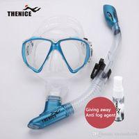 THENICE جديد قناع الغوص الجاف غص نظارات أنبوب التنفس مع الحالة الصلبة المضادة للتعفير عامل سيليكون معدات السباحة