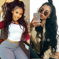 Popular Loose Kinky Curly Lace Front Wigs with Baby Hair Glu...