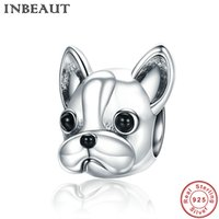 INBEAUT 925 Sterling Silver Design carino Lovely Little Dog Beads Women Pup Animal Charm fit gioielli moda braccialetto Pandora
