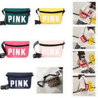 13 Styles Pink Letter Fanny Pack Beach Chest Pack Waist Bag ...