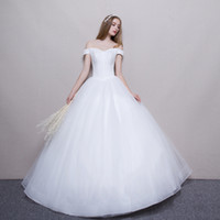 Off Shoulder Ball Gown Wedding Dresses 2018 White Ivory Plus...
