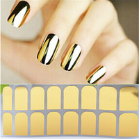 Nail Art Polish Metallic Gold Foil Sticker Decal Patch Wraps Tips Full Nail Tips Decoración