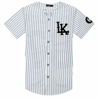 Homem Si Tun 07 Últimos Reis Baseball Camiseta Tyga Jerseys Preto Branco Unsex Homens Mulheres Estilo Hip Hop T Tops Rap