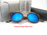 new fashion Coating Sunglass round frame Driving sunGlasses ...