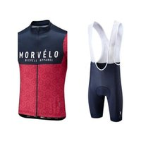 MTB Equipo de bicicleta MORVELO HOMBRES TRANSPLETLE CIRCULARIO Jersey sin mangas Ropa de bicicleta de manga Racing de verano Jersey BIB Shorts Set 030530