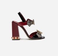 2018 Faux Snake Skin Block tacchi donna sandali stile Roma cinturino alla caviglia donna pumps borchiato fibbia di cristallo tacchi alti scarpe