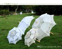 Apertura manual de encaje Boda paraguas parasol paraguas accesorios para boda bridal ducha paraguas C637