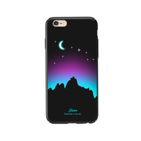 Para el caso del iPhone 6 / 6S, Luminous Glow In The Dark Ultra Thin Fluorescence Pattern Funda para PC para iPhone 6s / 6