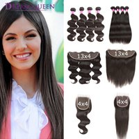 4 Bundles Malaysian Human Hair Extensions Body Wave Straight...