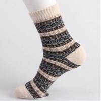 5 пар / лот новинка мужская зимняя повседневная шерстяные носки толстая линия теплые мягкие носки 5 цветов горячая распродажа свободный размер горячая распродажа