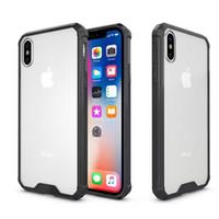 İPhone X 7 8 Artı Kılıflar için, Toptan Kristal Temizle TPU Tampon Yastık Hibrid Sağlam Şeffaf Panel Kapak