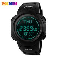 SKMEI Марка мужчины цифровые часы Спорт на открытом воздухе компас часы 50 м Водонепроницаемые Ударопрочный обратный отсчет наручные часы Relogio Masculino