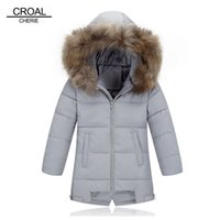 CROAL CHERIE Light 90% White Down Coat For Boys Outerwear Ra...