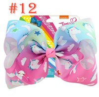 JoJo Child Girl Bow 8 Inch 12 Color rainbow color cartoon un...
