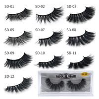 3D mink cílios por atacado natural cílios falsos maquiagem maquiagem pílulas Maquiagem de extensão olho falsa pack pack 3d mink lashes volume